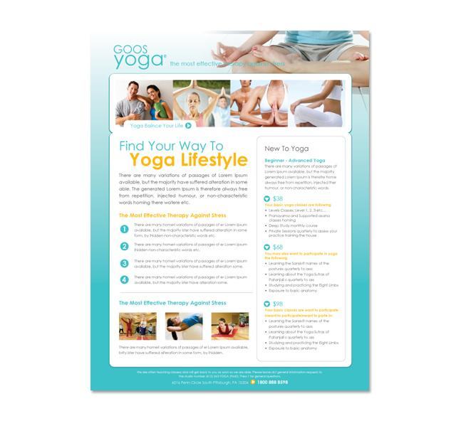 Yoga Brochure Templates Free