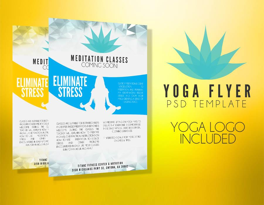 Yoga Class Flyer Template Free