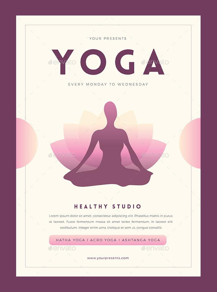 Yoga Flyer Templates Free