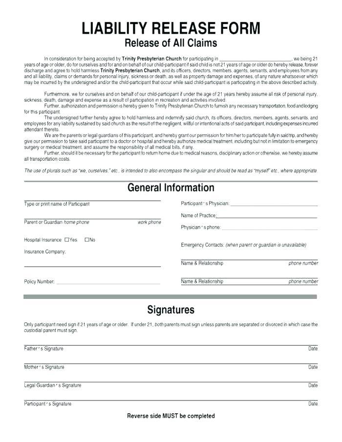 Yoga Waiver Form Template Uk