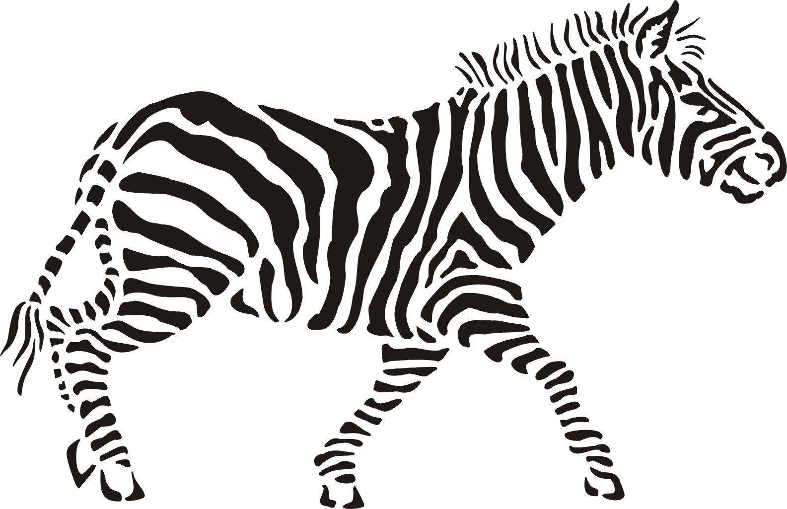 Zebra Stencil For Painting Walls