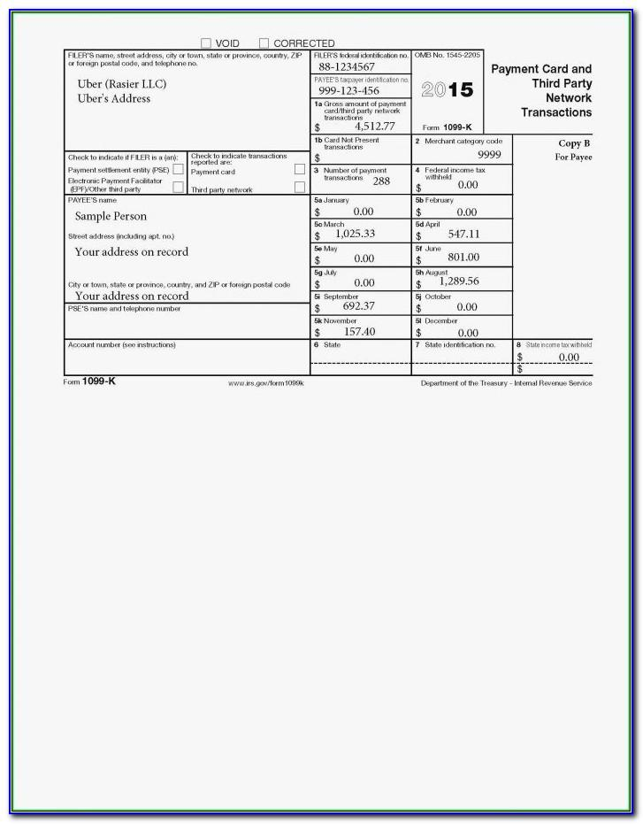 1099 Misc Template For Preprinted Forms 2017