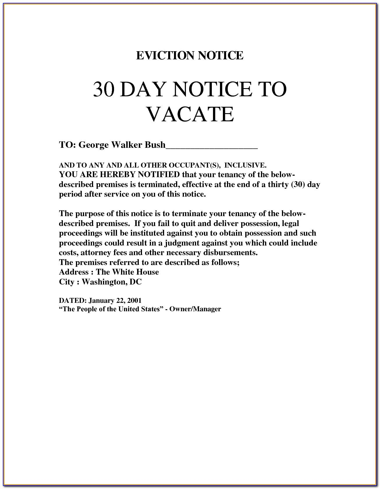 30 Day Eviction Notice Template Virginia