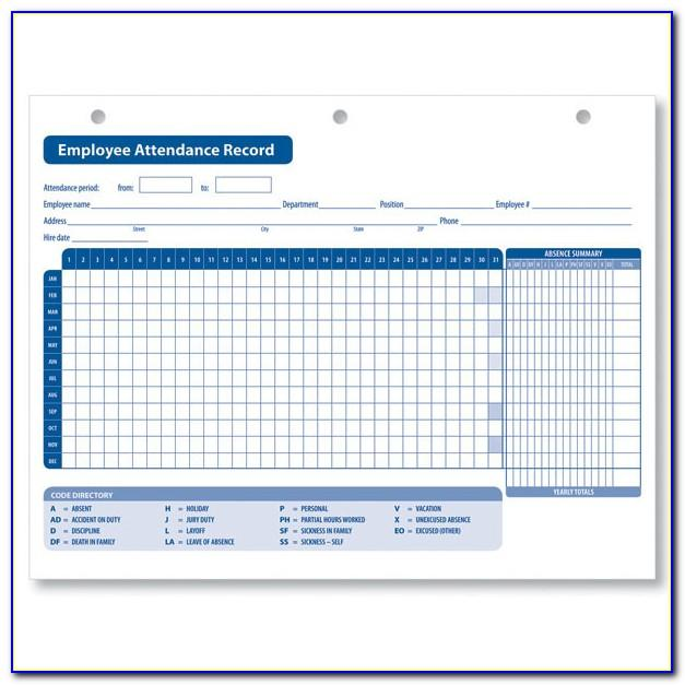Access Vacation Tracking Template