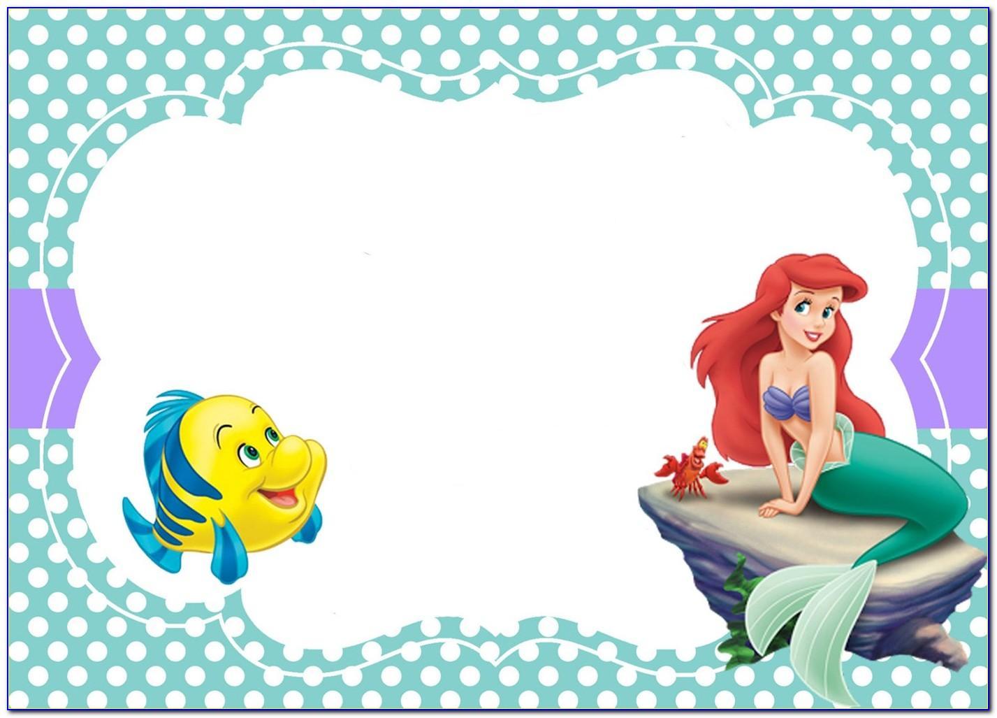 Ariel The Little Mermaid Invitations Templates