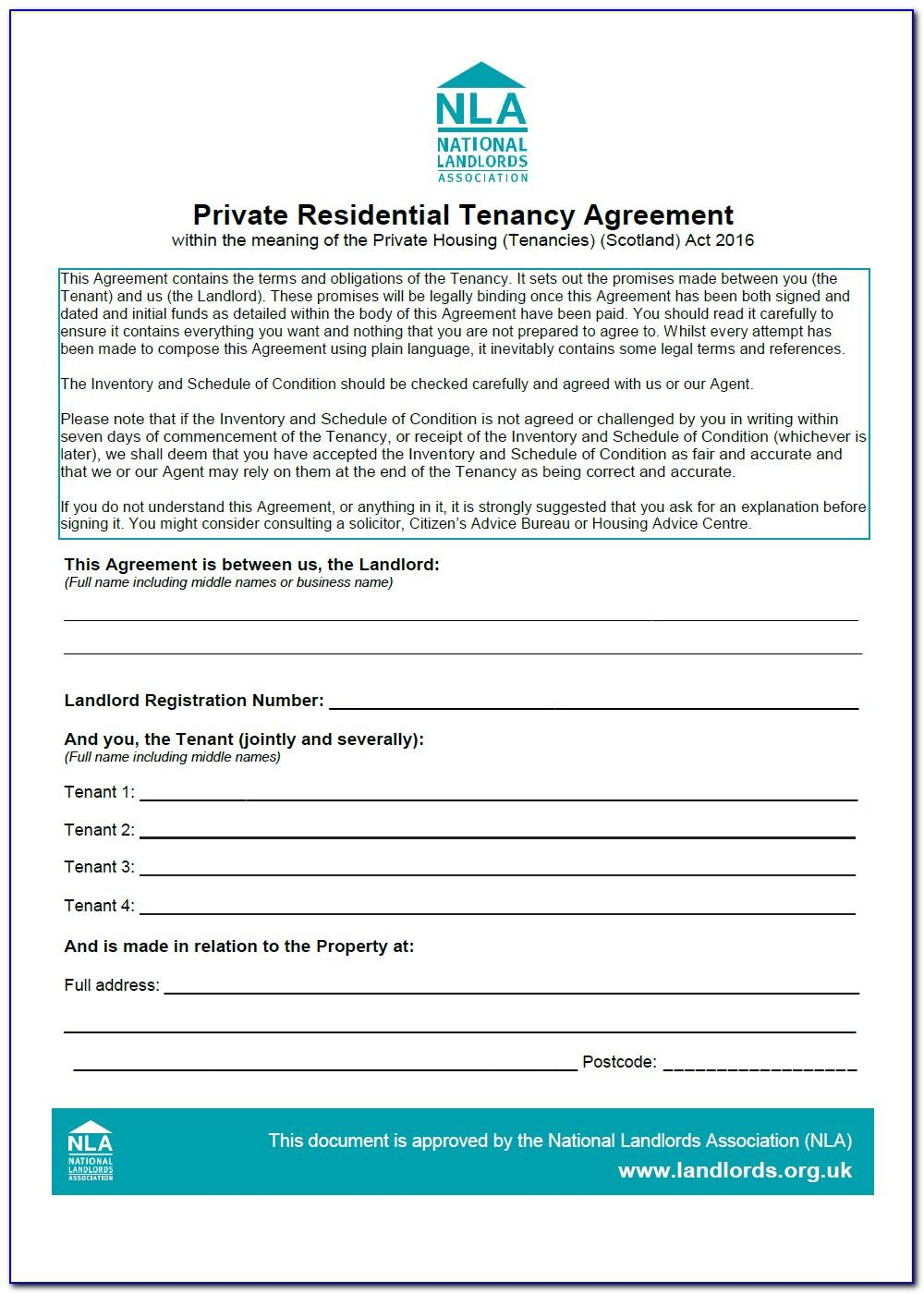 Assured Shorthold Tenancy Agreement Template Scotland