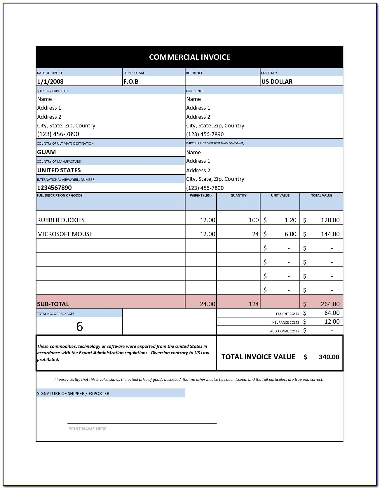 Australian Tax Invoice Template Word Doc