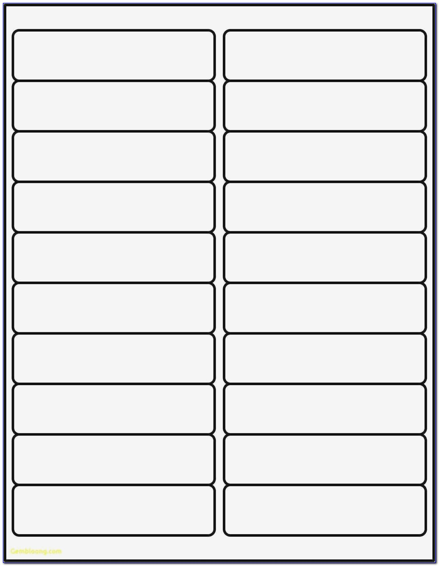 Avery Address Label Templates 14 Per Sheet