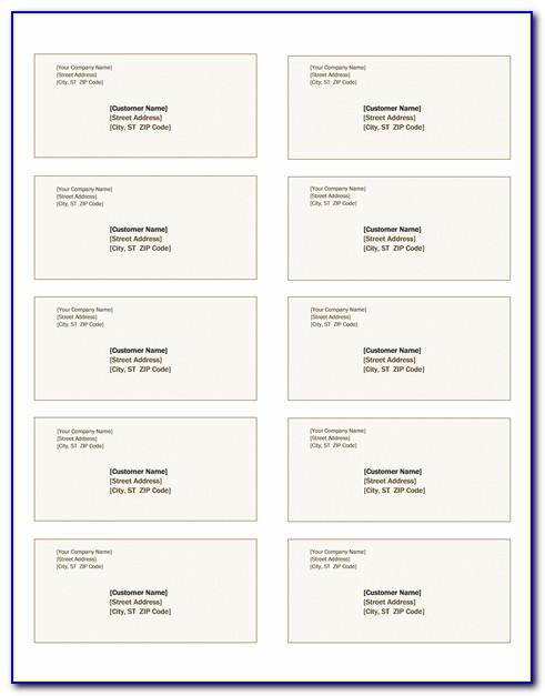 Avery Shipping Labels Template 8164