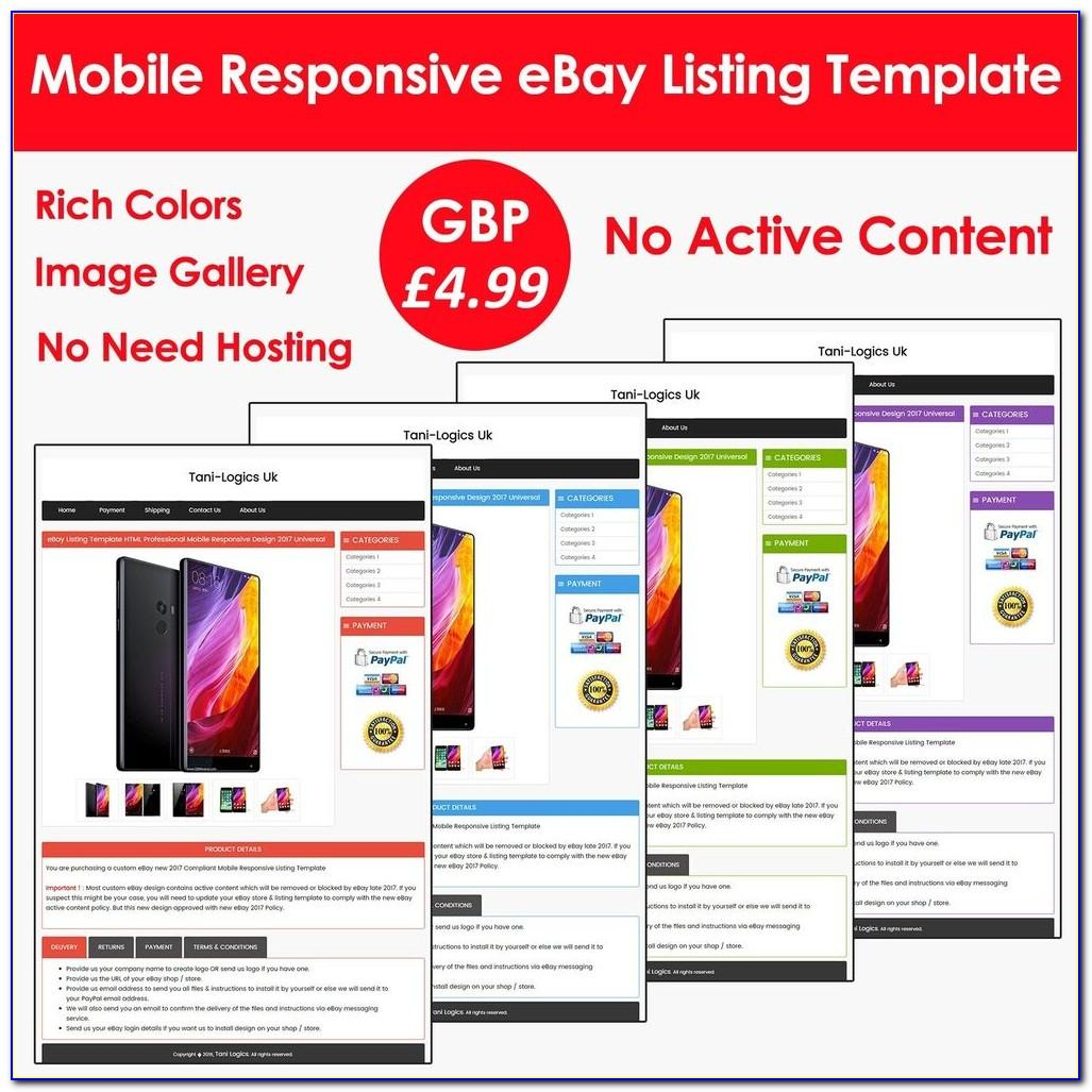 Best Listing Template For Ebay