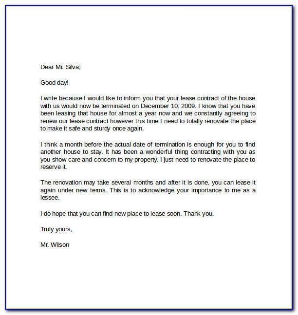 Cancel Tenancy Agreement Letter Template
