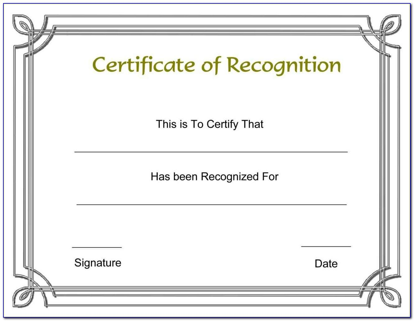 Certificate Of Appreciation Template Free Download Word