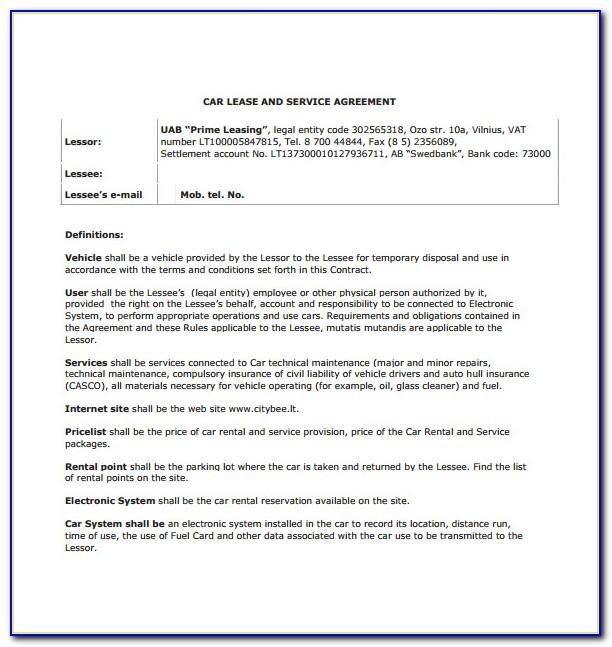 Commercial Truck Lease Purchase Agreement Form