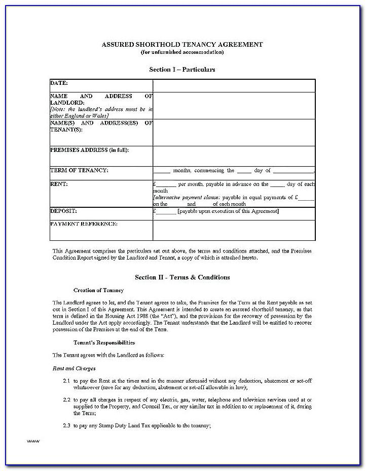 Common Law Tenancy Agreement Template Scotland