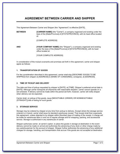 Contract Agreements Between Two Companies