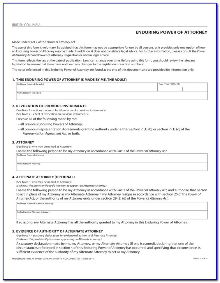 Corporate Power Of Attorney Template Uk