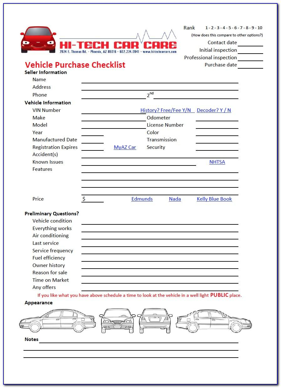Daily Vehicle Inspection Checklist Template Pdf
