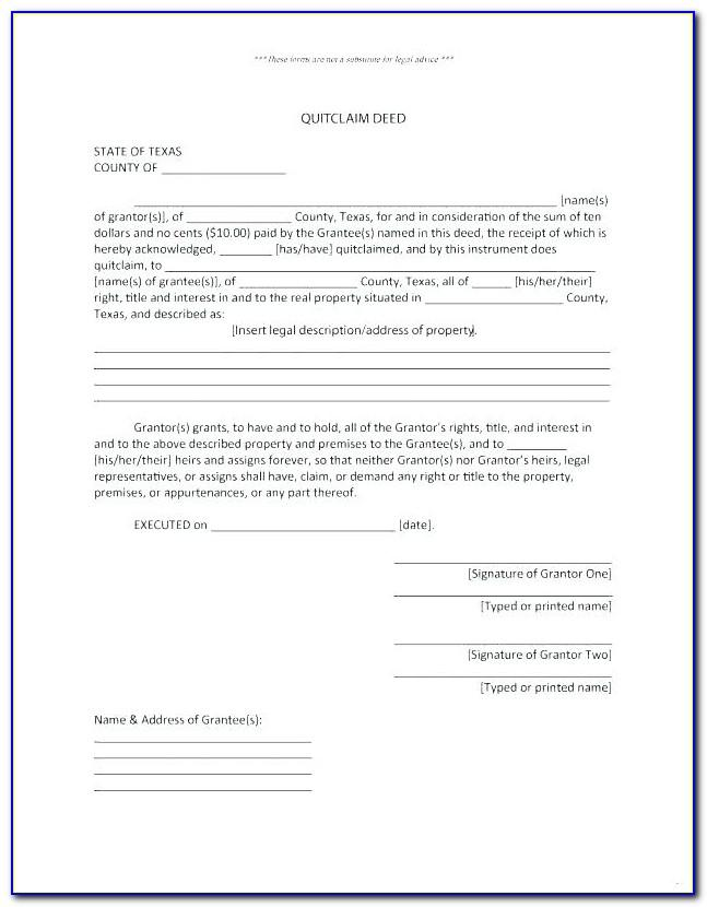 Deed Of Trust Property Template Uk