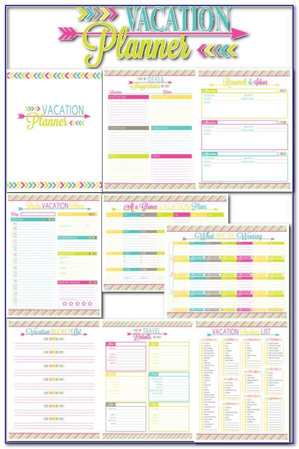 Disney Vacation Planning Calendar Template