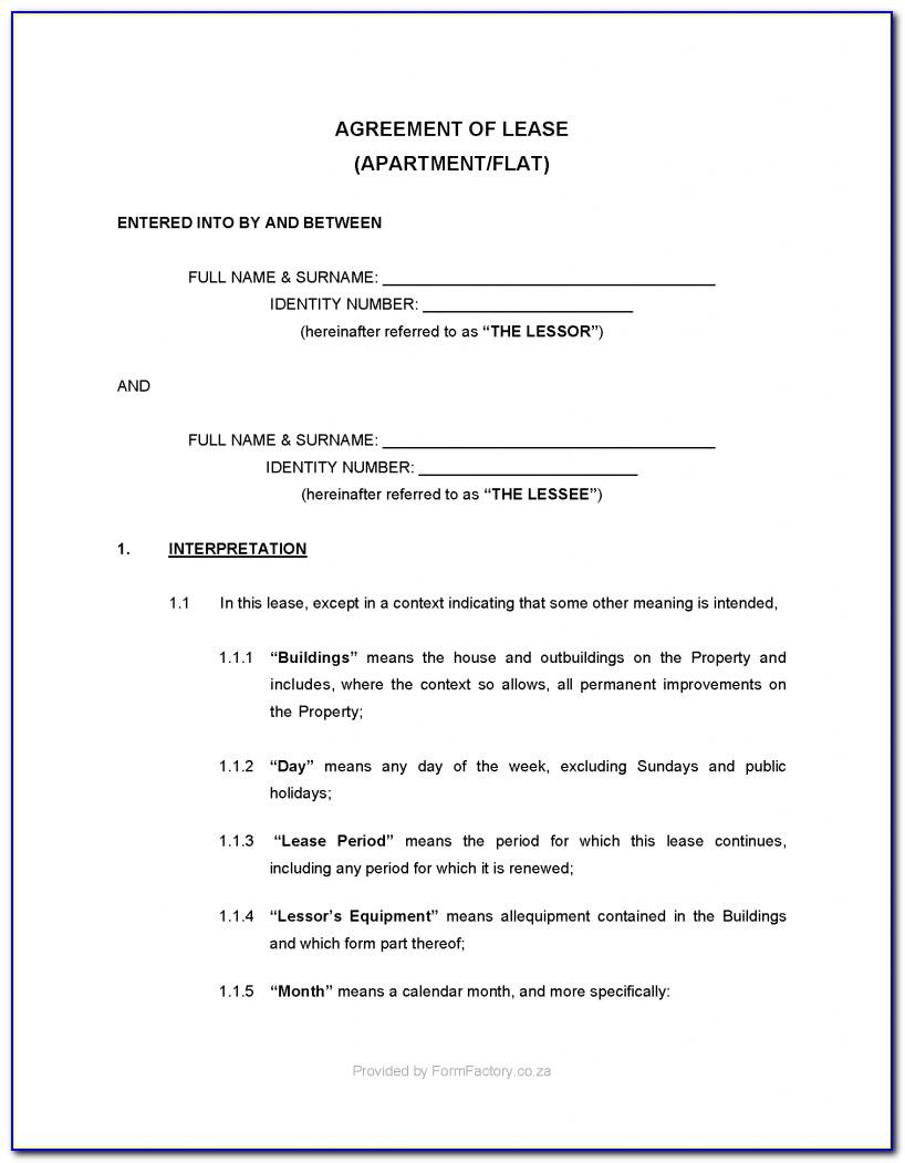 Early Termination Of Lease Agreement Letter Sample South Africa