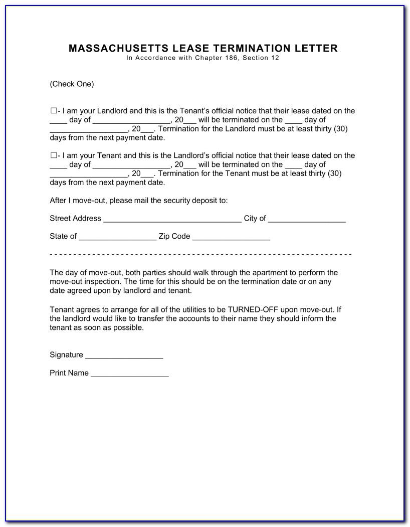 Early Termination Of Lease Agreement Sample