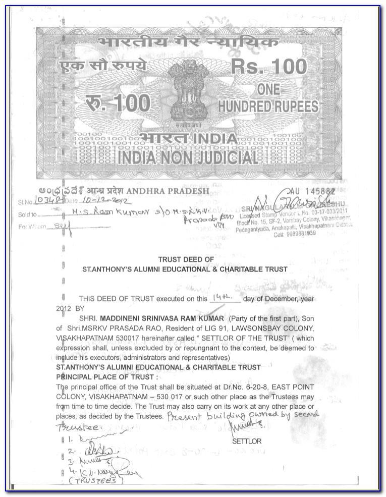 Education Trust Deed Format India