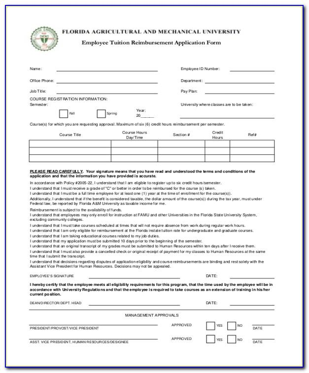 Employee Tuition Reimbursement Agreement Template