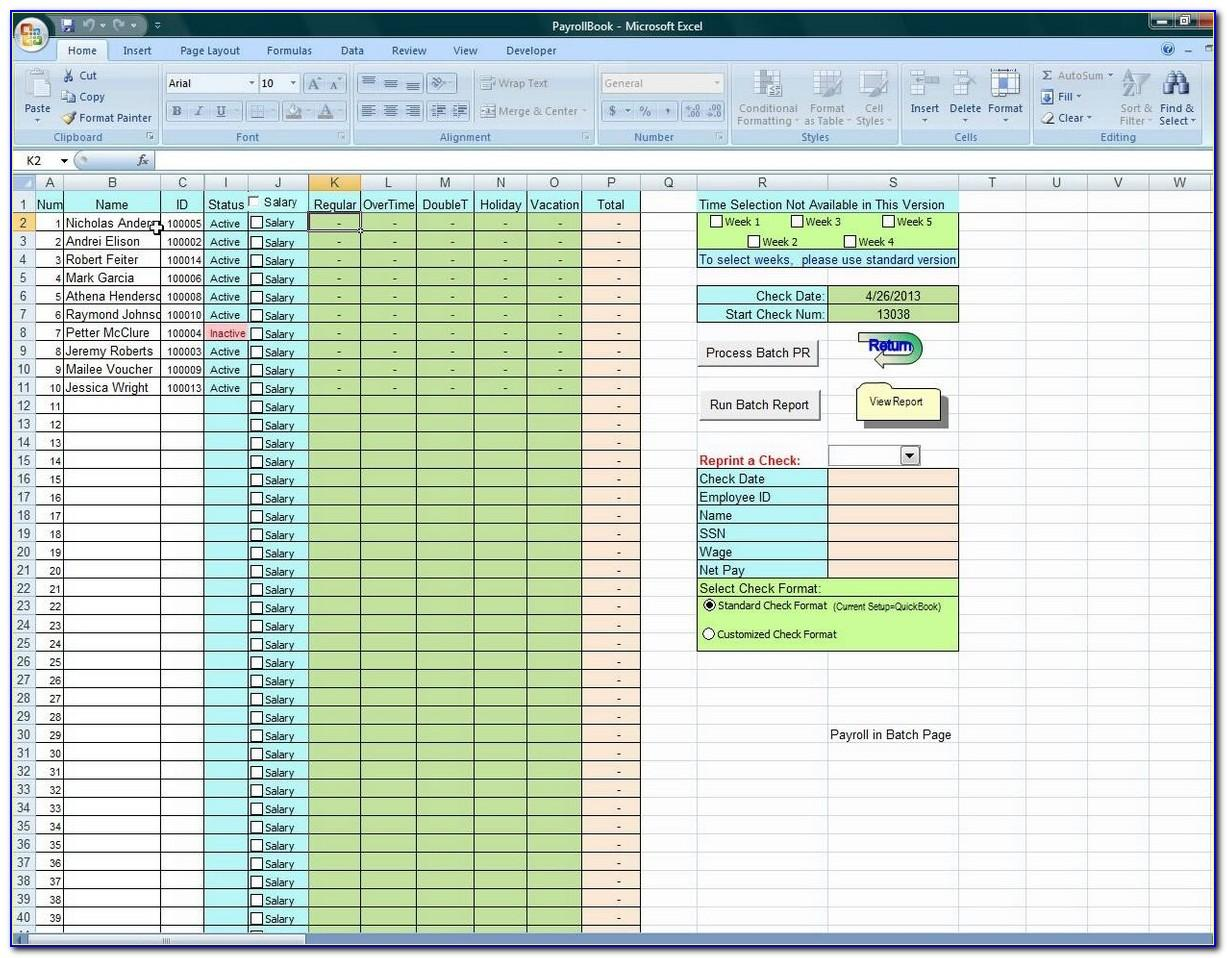 Employee Vacation Accrual Template Excel