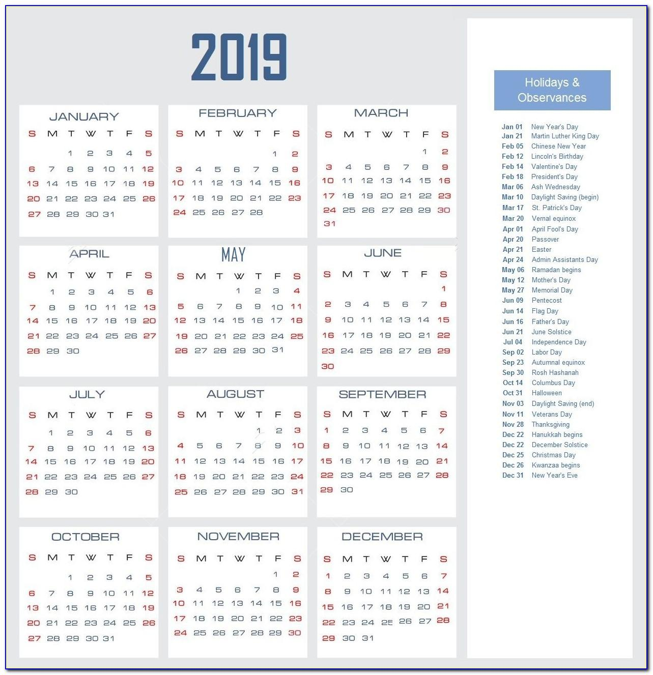 Employee Vacation Planner Template Excel 2018 Free