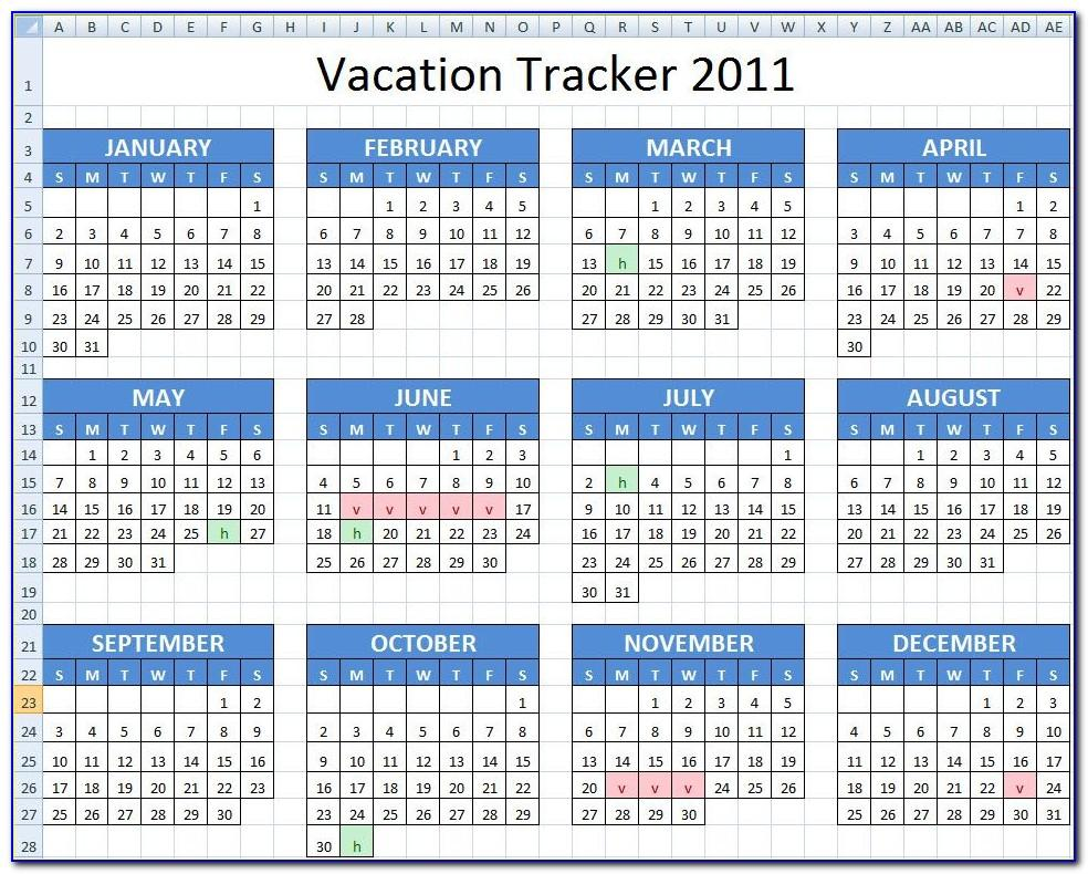 Employee Vacation Tracking Access Template