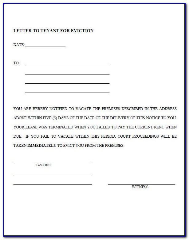 Eviction Notice Template Uk Pdf
