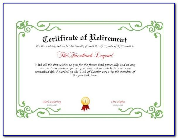 Example Certificate Of Appreciation