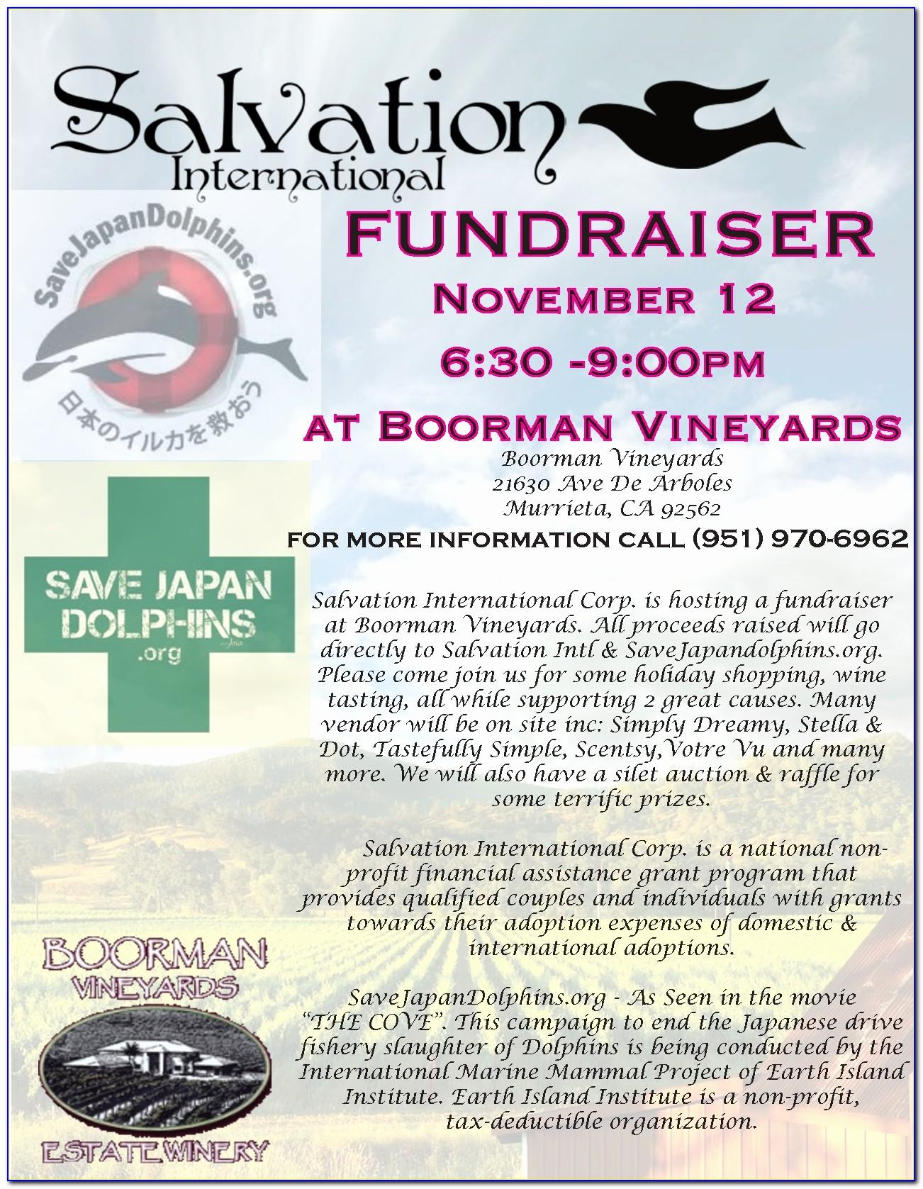Example Fundraiser Flyer