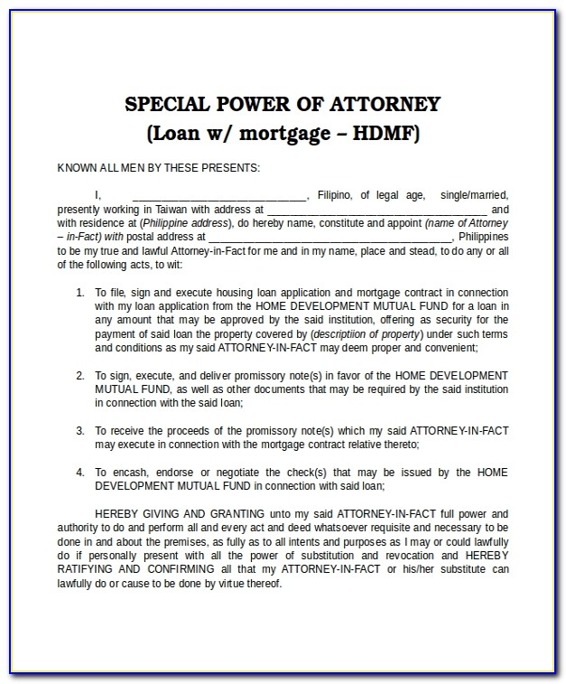 Example Power Of Attorney Scotland