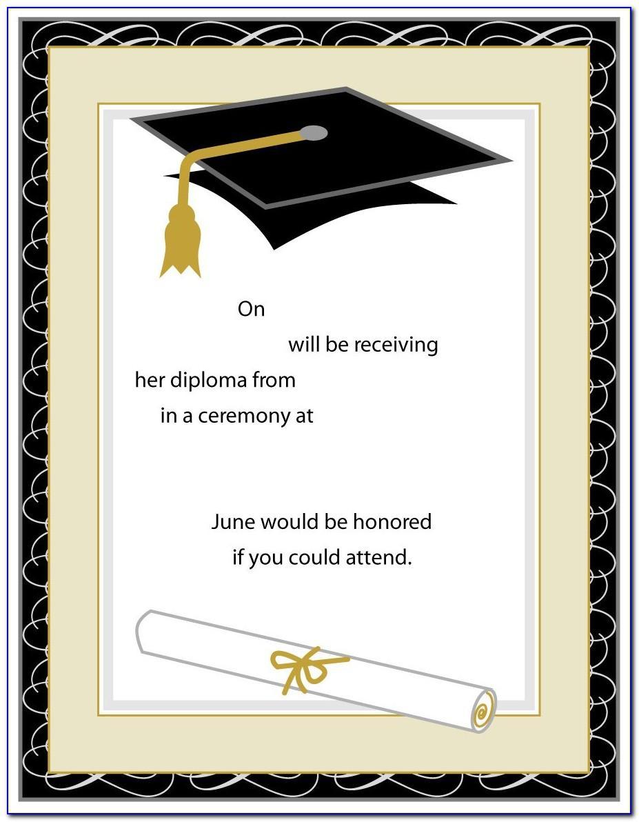 Examples Of College Graduation Invitations