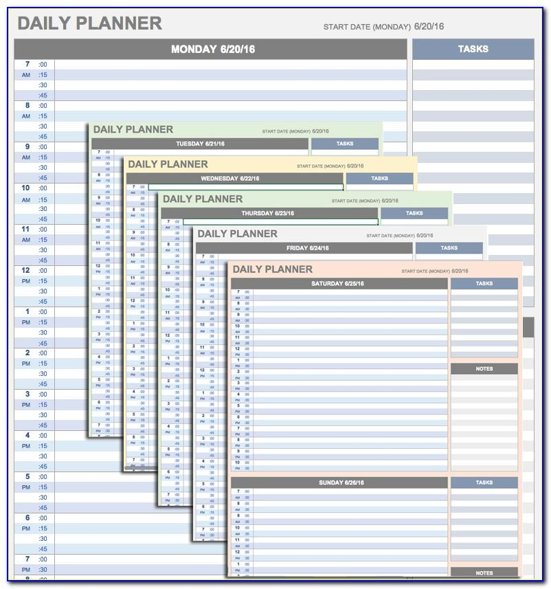 Excel Daily Task Schedule Template