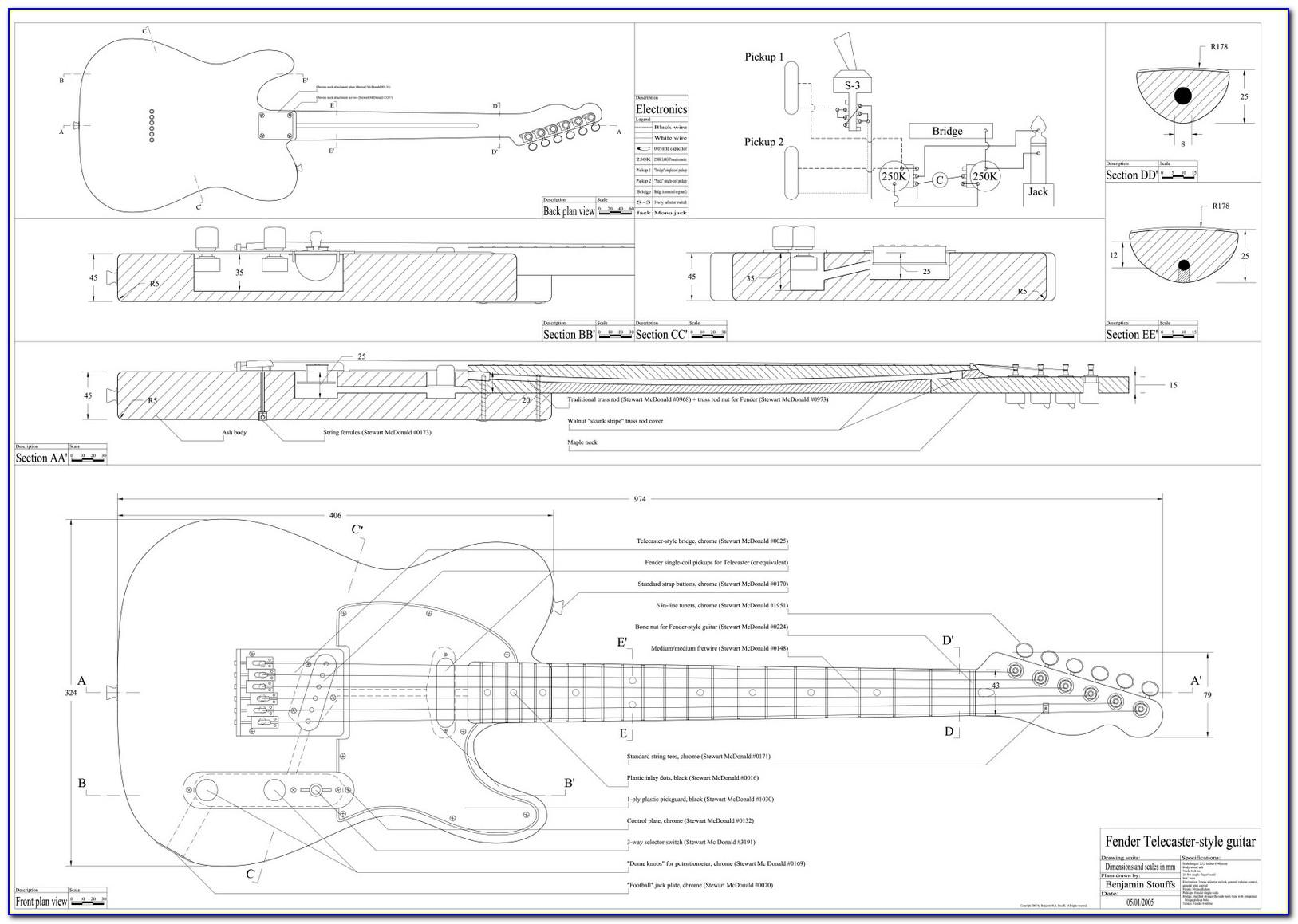 Fender Telecaster Neck Template Pdf