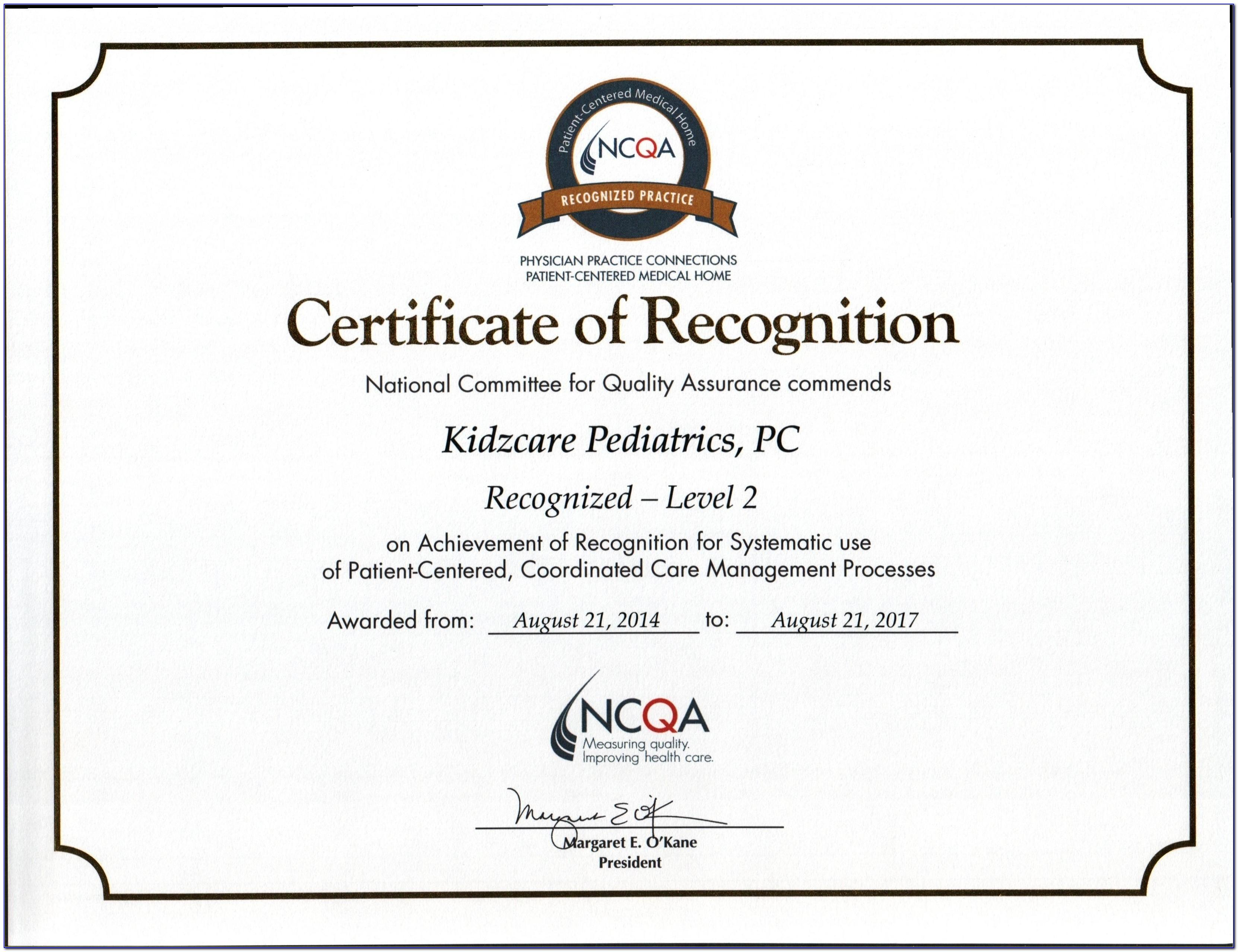Format Certificate Of Appreciation