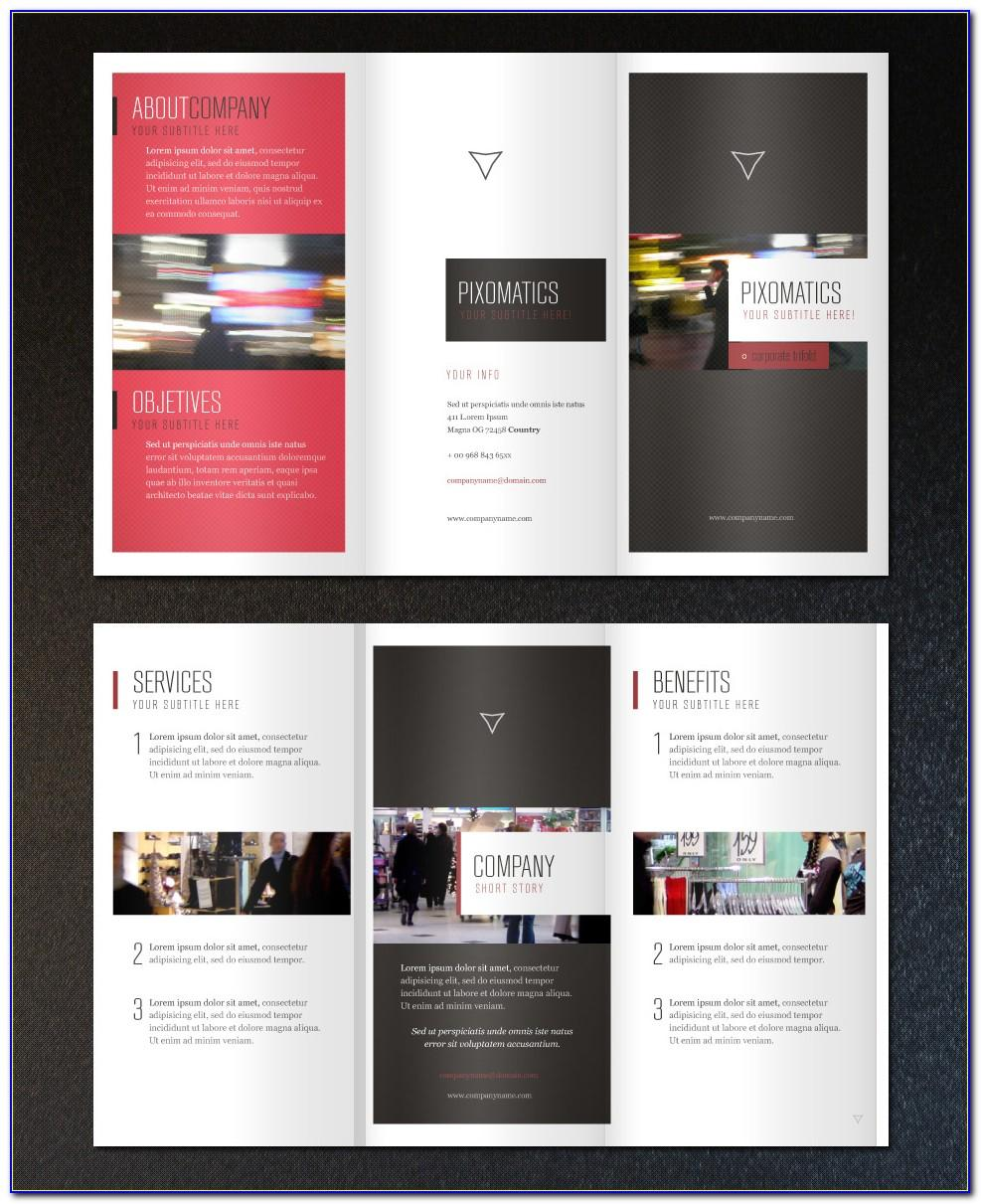 Free Adobe Indesign Tri Fold Brochure Template