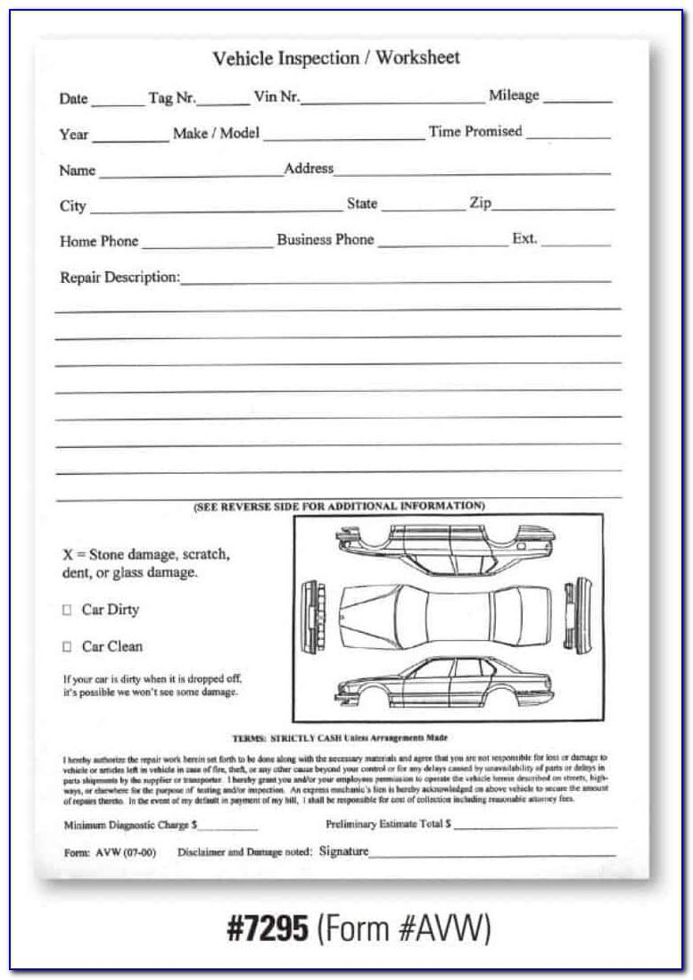 Free Driver Vehicle Inspection Report Form