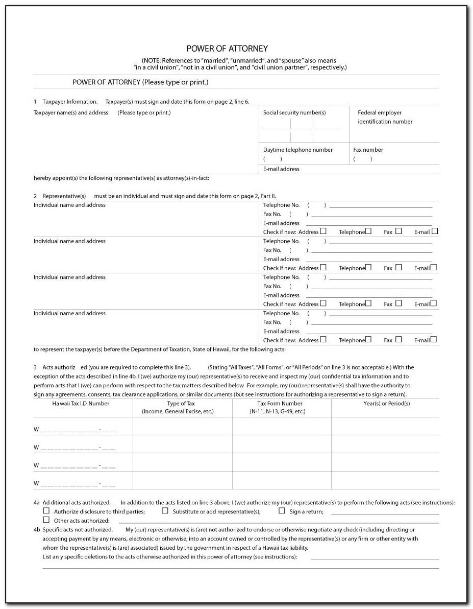 Free Durable Power Of Attorney Form Template