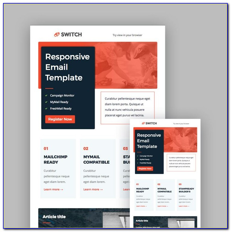 Free Html Template For Mailchimp
