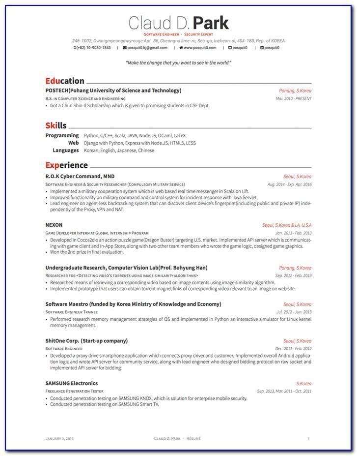 Free Indesign Templates Curriculum Vitae