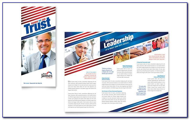 Free Political Campaign Tri Fold Brochure Template