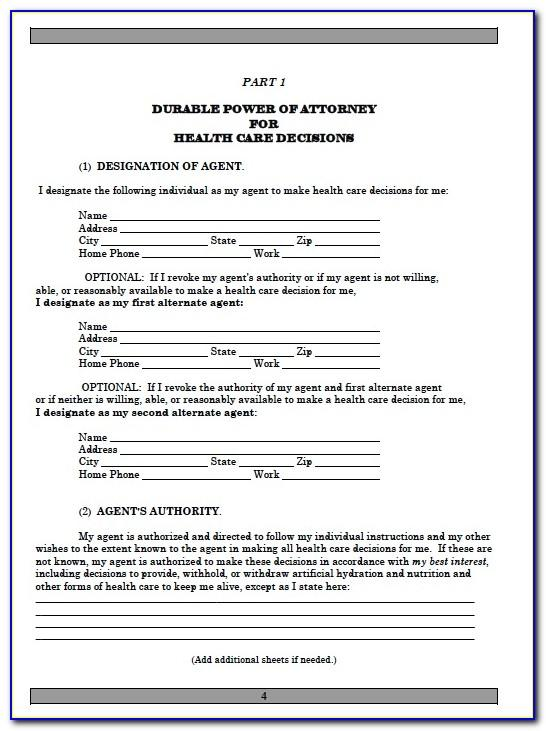 Free Power Of Attorney Form Florida Template