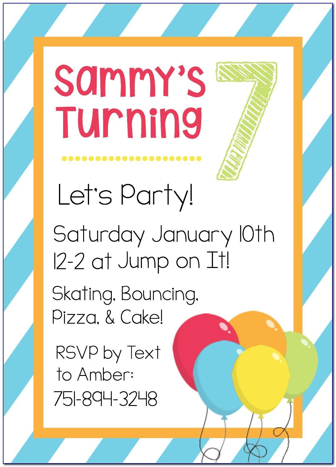 Free Printable Templates For Birthday Invitations