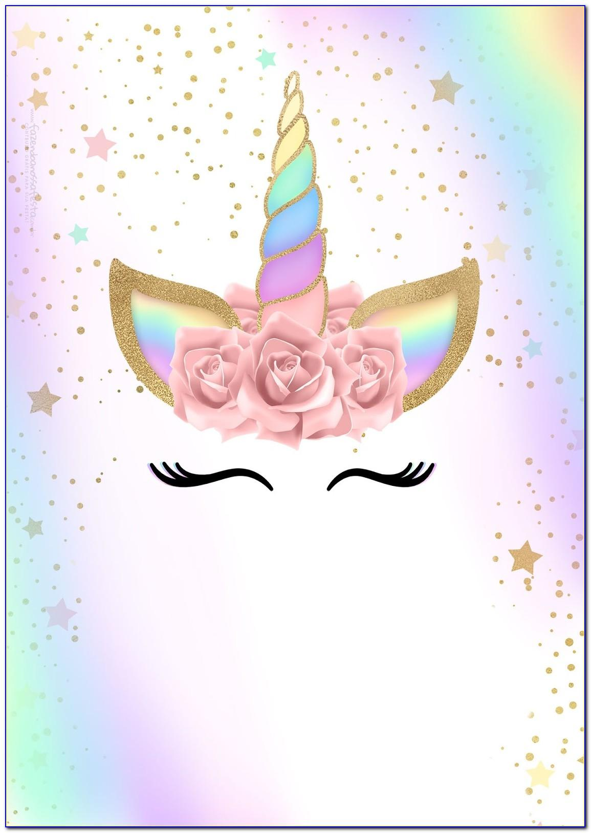 Free Printable Unicorn Birthday Invitation Templates