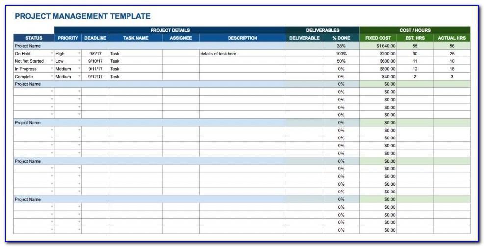 Free Task Management Spreadsheet Template