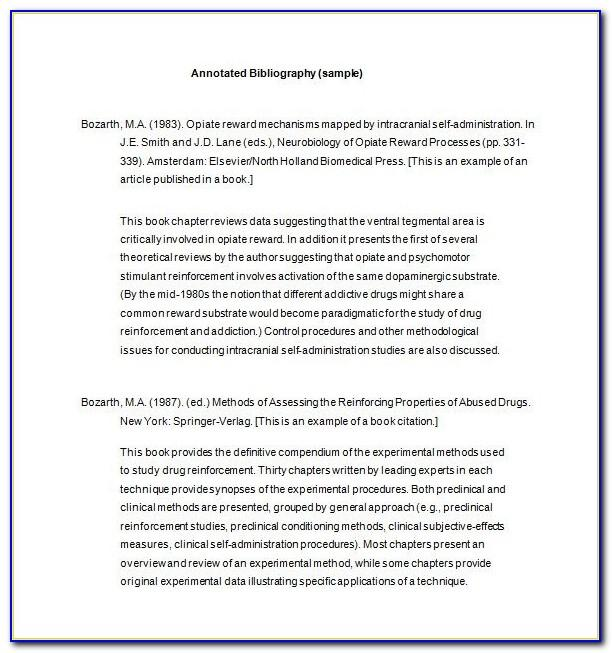 Free Template For Annotated Bibliography Apa Format
