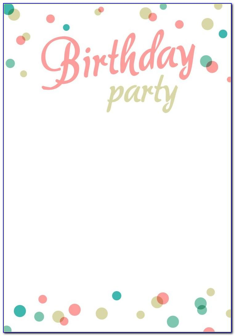 Free Templates For Birthday Invitation